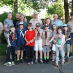Scouts and parents pre-Memorial Day