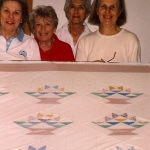 1996 Flower Basket with Claire Webber, Edna Birkeland, Laurel Chiappetta and Inge Thalheim