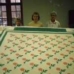 1999 Roses (applique) with Edna Birkeland, Inge Thalheim and Laurel Chiappetta