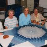 2005 Bethlehem Star with Edna Birkeland. Claire Webber, Inge Thalheim and Margaret Chiappetta