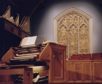 Chancel Window: Golden at night
