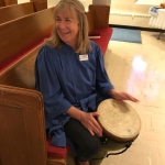 Andi with her drum