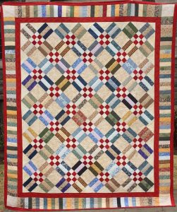 2016 quilt, Dots and Dashes (Click to enlarge)