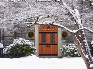 church come unto me door winter