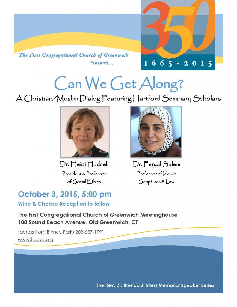 2015 Oct 3 Muslim Christian Dialog Lecture Flyer