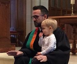 Patrick preaching the children's sermon